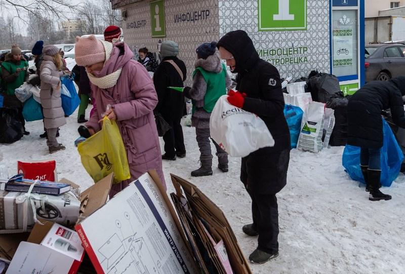 В субботу, 13 февраля, в Сестрорецке прошла акция по сбору раздельного вторсырья